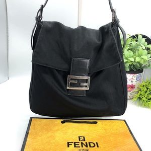 Fendi Bags - Fendi Auth Vintage Nylon FF Logo Mama Baguette Bag